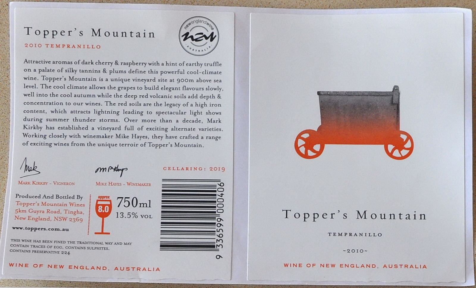 Toppers Mountain Tempranillo0001