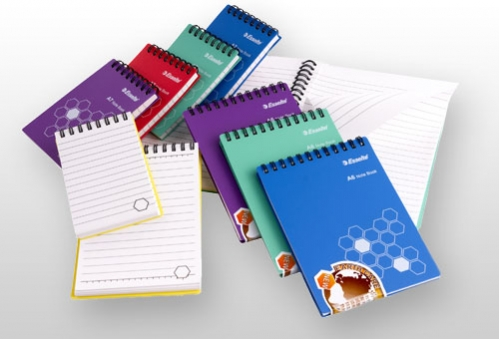 Stationery, diarys, pads and notebooks